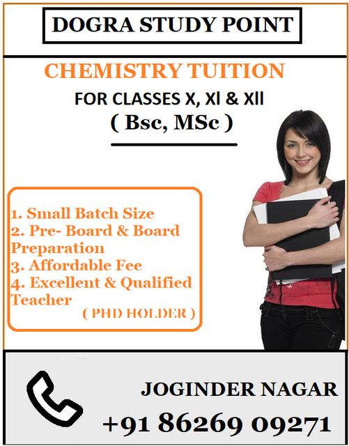 chemistry tuition in joginder nagar